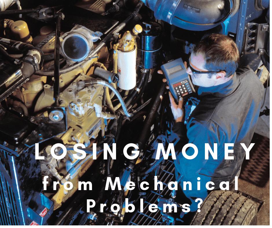 Mechanic looking auto automobile parts.
