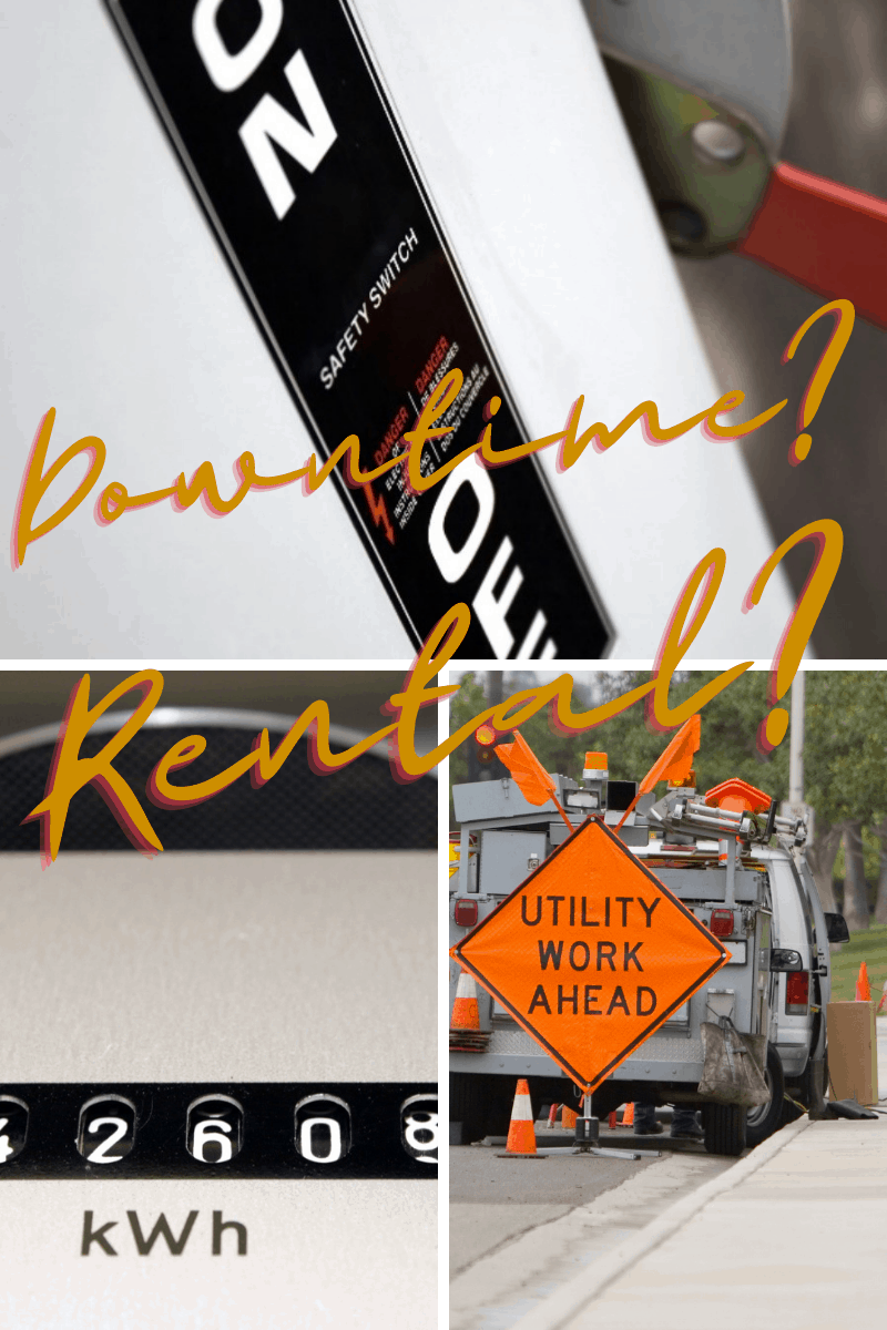 Downtime? Rental? for Utility Companies